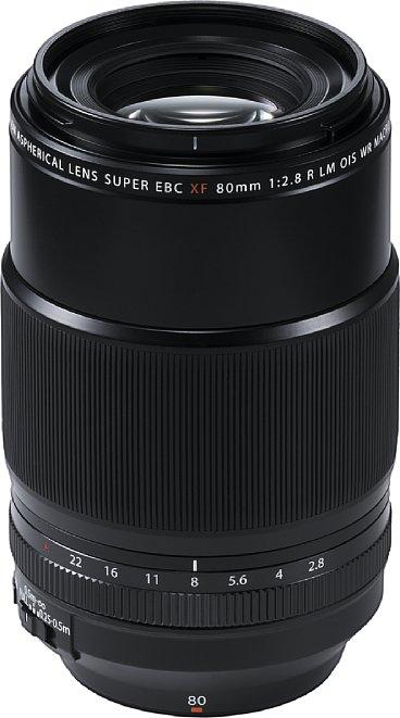 Bild Das Fujifilm XF 80 mm F2.8 R LM OIS WR Macro (120 mm KB) bietet erstmals im XF-System einen 1:1-Abbildungsmaßstab und einen 5 EV-Stufen effektiven Bildstabilisator. [Foto: Fujifilm]