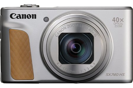 Bild Die Canon PowerShot SX740 HS gibt es nicht nur in Schwarz, sondern auch in Silber mit braunem Griff. [Foto: Canon]