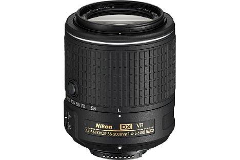 Bild Das Nikon AF-S DX 55-200 mm 4.0-5.6 G II ED VR eignet sich für Kameras mit Sensor im DX-Format. Es ergänzt das AF-S DX Nikkor 18-55 mm 1:3,5-5,6G VR II. [Foto: Nikon]