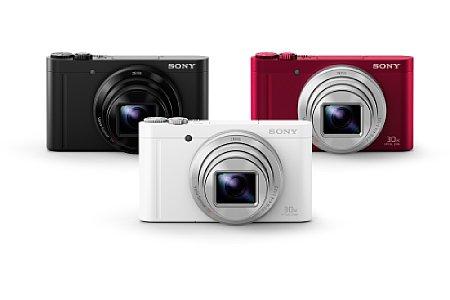 Bild Im Gegensatz zur HX90 und HX90V soll es die Sony Cyber-shot DSC-WX500 nicht nur in Schwarz, sondern auch in Rot und Weiß geben. [Foto: Sony]