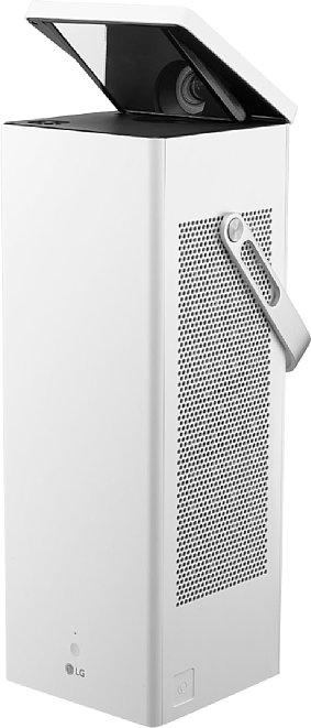 """Bild Die weiße Ausführung trägt die Typebezeichnung LG HU80KSW und den Spitznamen """"Presto"""". Im Gegensatz zur schwarzen Version können beim weißen Gerät Apps wie Netflix oder YouTube installiert werden. [Foto: LG]"""