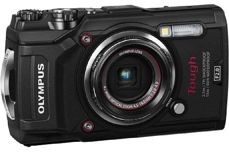 Bild Wahlweise in Schwarz oder Rot soll die Olympus Tough TG-5 ab Mitte Juni 2017 zu einem Preis von knapp 480 Euro erhältlich sein. [Foto: Olympus]