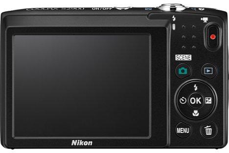 Bild Der rückwärtige Bildschirm der Nikon Coolpix S2900 misst 6,7 Zentimeter in der Diagonale und löst 230.000 Bildpunkte auf. [Foto: Nikon]