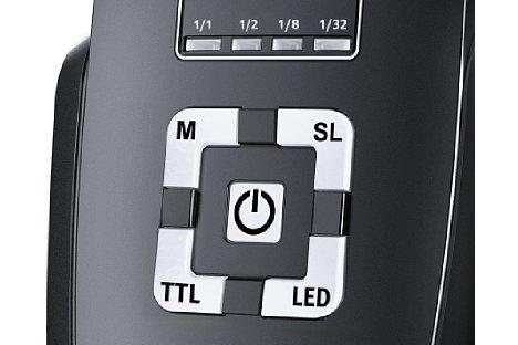 Bild Die Bedienelemente des Metz mecablitz 44 AF-2 digital sind logisch und übersichtlich. [Foto: Metz]