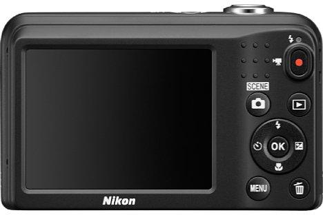 Bild Der rückwärtige 6,7-Zentimeter-Bildschirm der Nikon Coolpix L31 bringt es auf 230.000 Bildpunkte Auflösung. [Foto: Nikon]