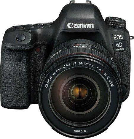Bild Die Canon EOS 6D Mark II kostet im Gegensatz zum Vorgängermodell nun zwar über 2.000 Euro, bietet dafür aber einen mit 26 Megapixeln höher auflösenden Vollformatsensor sowie einen deutlich schnelleren Bildprozessor und mehr AF-Punkte. [Foto: Canon]
