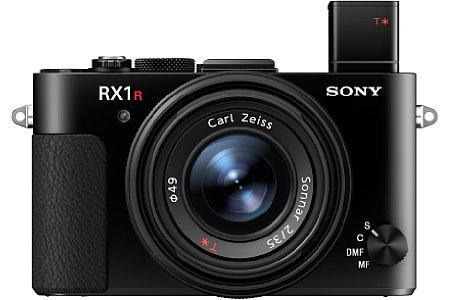 Bild Auf Knopfdruck springt ein elektronischer Sucher mit 2,36 Millionen Bildpunkten Auflösung und 0,74-facher Vergrößerung aus der Sony DSC-RX1R II heraus. [Foto: Sony]