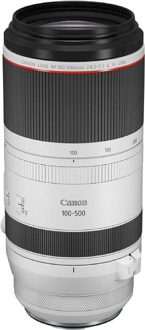 Bild Als Objektiv der L-Serie ist das Canon RF 100-500 mm F4.5-7.1L IS USM gegen Staub und Spritzwasser geschützt, kostet dafür aber auch über 3.000 Euro. [Foto: Canon]