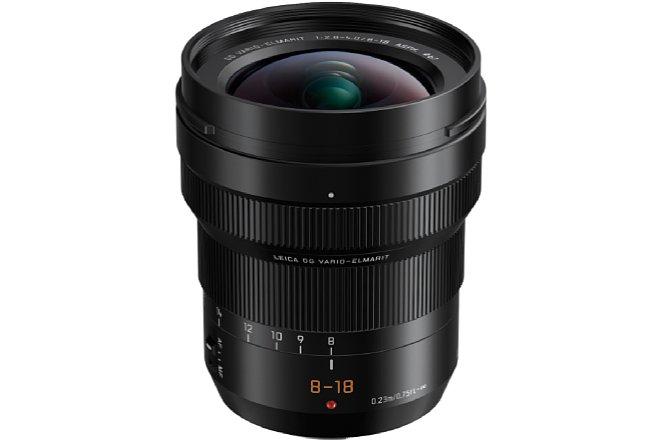 Bild Das Panasonic Leica DG Vario-Elmarit 8-18 mm F2.8-4 ASPH. deckt einen kleinbildäquivalenden Brennweitenbereich von 16-36 mm ab und bietet dennoch ein 67 mm messendes Filtergewinde. [Foto: Panasonic]