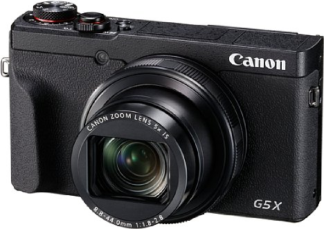 Bild Canon hat der PowerShot G5 X Mark II ein deutlich kompakteres Design verpasst. Der Sucherbuckel samt Blitzschuh ist weg, das Objektiv zoomt nun sogar fünffach und der Sucher ist ausfahrbar. [Foto: Canon]