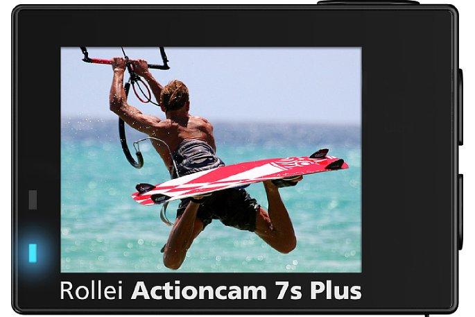 Bild Der Monitor auf der Rückseite der Rollei Actioncam 7s Plus besitzt eine Touch-Funktion. [Foto: Rollei]